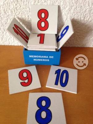 Memorama De Números Juego Didáctico De Madera