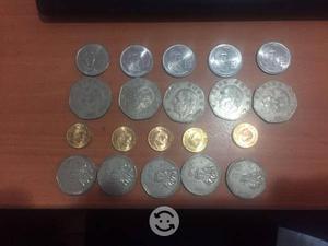 Set de 20 monedas antiguas mexicanas