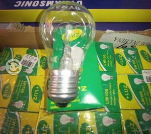 Focos +Luz 100 watts caja con 100 piezas a 6.80