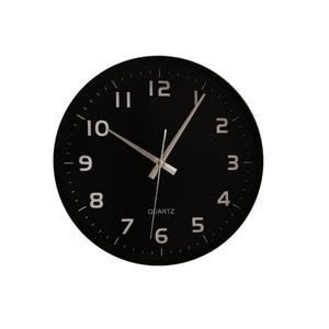 Reloj De Pared Gadiz Redondo 30 Cm Negro