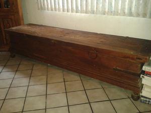 Baul madera rustica con herrajes chico posot class for Herrajes para muebles de madera