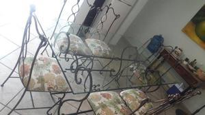 Mesa comedor de forja y cubierta de cristal posot class - Cubierta de cristal ...