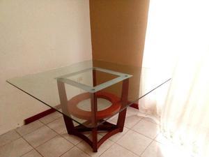 Mesa de cristal para 8 personas
