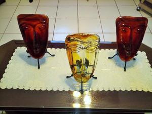 Mascaras de vidrio artesanal
