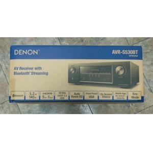 Denon AVR-S530BT -- 5.2-Ch. -- 4K Ultra HD -- 3D -- Bluetoot
