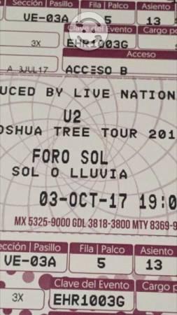 Boletos U2 The Joshua Tree  De Octubre