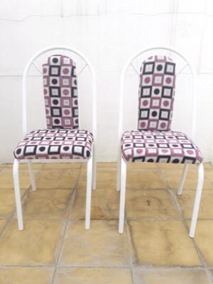 Sillas nuevas de caoba recien tapizadas posot class for Sillas de metal tapizadas