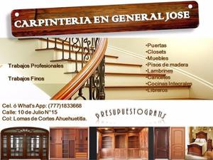 Carpintería en General Jose