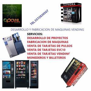 Venta y fabricacion de maquinas Vending