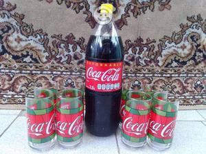 Antiguos Vasos Coca Cola Colección tipo vitral