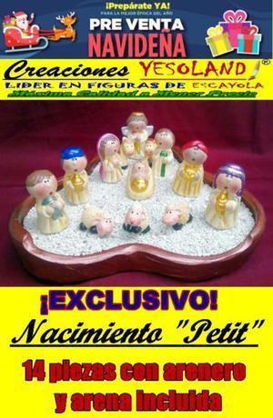 """NACIMIENTO """"PETIT"""" EXCLUSIVO 14 PIEZAS (PREVENTA NAVIDEÑA)."""
