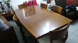 Comedor fino antiguo de caoba de 6 sillas