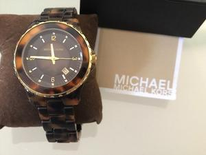 Reloj Michael Kors original Carey cafe dorado