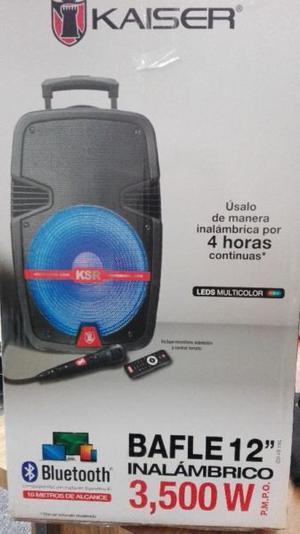 "Bafle Bocina KSR de 12"" inalambrico Bluetooth, SD, USB,"