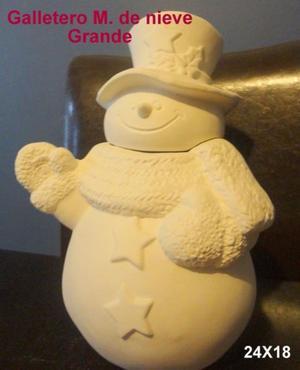 LOTE 5 Muñecos de nieve y duendes de Cerámica para decorar