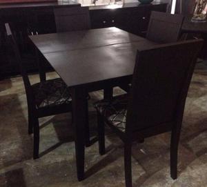 Comedor alto con 8 sillas y mesa con extensi n posot class for Comedor alto