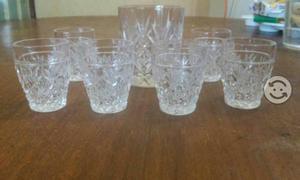 Vasos de cristal cortado