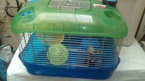 jaula para hamster con accesorios
