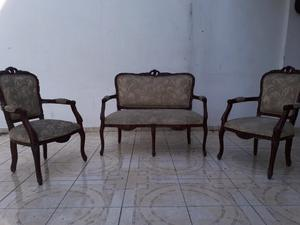 muebles Luis XV de caoba para recibidor