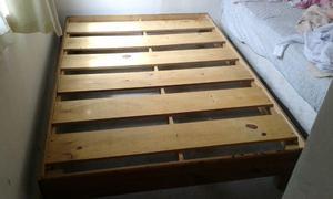 Base de cama madera matrimonial