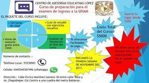 Cursos de preparacion para el examen de ingreso a la UNAM