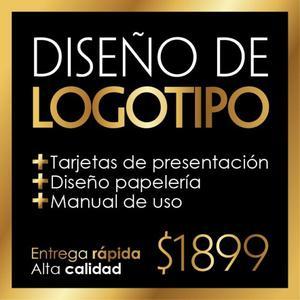 Diseño logotipo profesional + Tarjetas + Manual de uso
