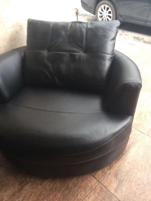 Juego de sillones grandes de piel sintética