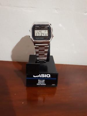 Reloj casio A158WA platiado