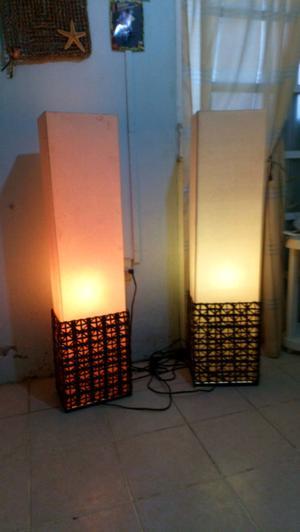 Vendo elegante par de lámparas decorativas para sala