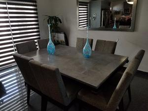 Comedor 8 sillas gris posot class for Comedor de marmol 8 sillas precio