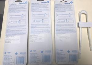 Pack 4 Seguros de plastico para alacenas safety First