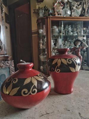 velas decorativas en cerámica