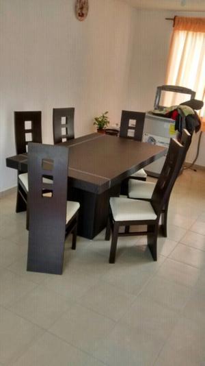 Comedor 6 sillas tactopiel