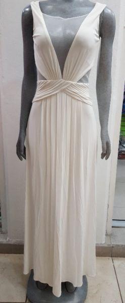 Elegante Vestido Largo BCBG – Color Blanco