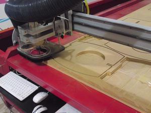 Maquila de Router CNC de madera, plástico y aluminio en 2D