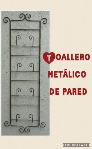 Candelabros rusticos fierro forjado y madera posot class - Toalleros de pared ...
