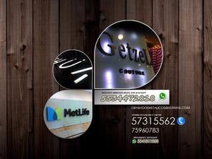 letras de acrilico, anuncios 3d