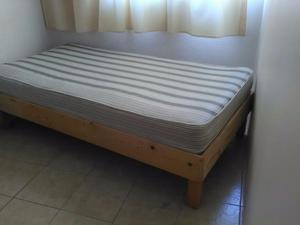 Venta de base de madera y colchón individual