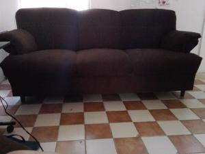 Sala Color Chocolate En Tela Sofa Y Loveseat