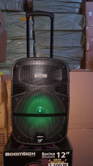 """BAFLE AMPLIFICADOR BLUETOOTH 12"""" CON LED"""