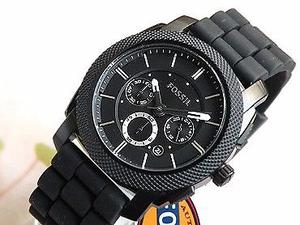Reloj Fossil Machine Chronograph Black Silicone