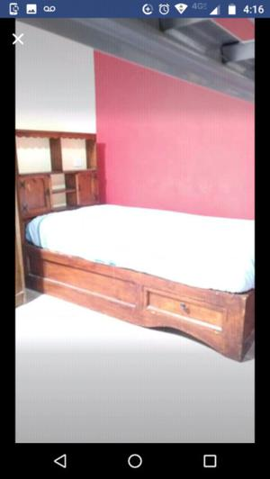 cama individual con cabecera