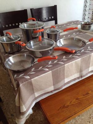 Bateria de cocina fraciel acero inoxidable envio posot class for Racholas cocina