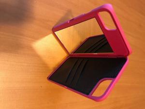 Funda para iPhone con Espejo y Tarjetero Precio de Mayoreo