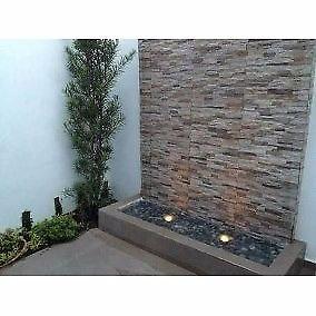 cascadas de pared y jardin