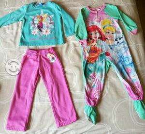 4 pijamas para niña talla 3