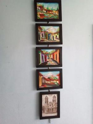 pinturas al óleo 30x40 enmarcadas temas varios