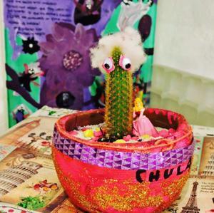 Arreglo de cactus para decoración de interiores. Hago