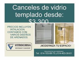 Ventanas, puertas, canceles de baño y mas