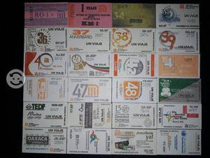 Coleccion de boletos del metro